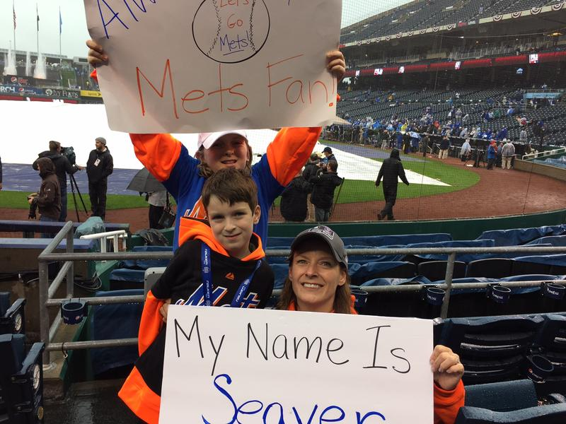 Mary Lyddane, a lifelong Mets fan, brought her family to Game 1 of the World Series ready to cheer for the team.