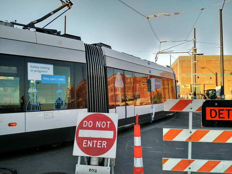 The streetcar won't be operating at full speed just yet. Operators will keep it at 3-4 mph for early tests, and slowly ramp up speed in subsequent tests.