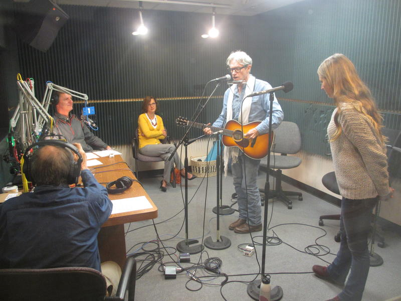 Singer Songwriter Sam Baker performs with Carrie Elkins at KCUR studios.