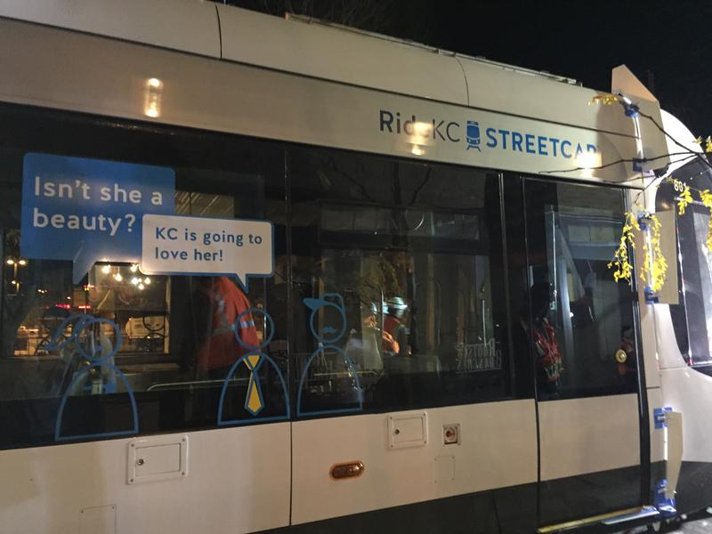 Streetcar #801 is outfitted with introductory decals that will be removed later.
