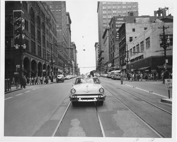 Downtown Kansas City, 1954.