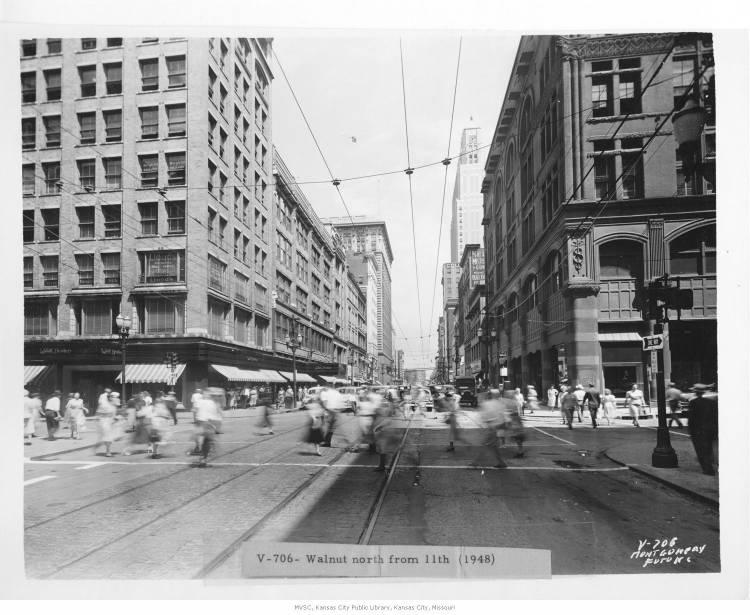 Downtown Kansas City, 1948.