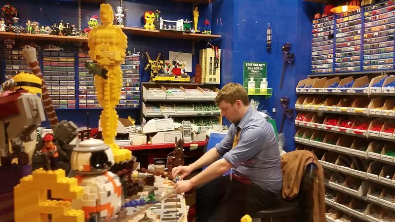 Joe Nunnink hard at work in his workshop at Crown Center near downtown Kansas City.