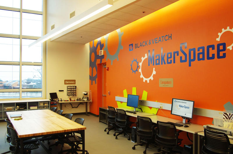 The expanded MakerSpace offers a workshop for 3D printing, recording audio and video, and using electronics.