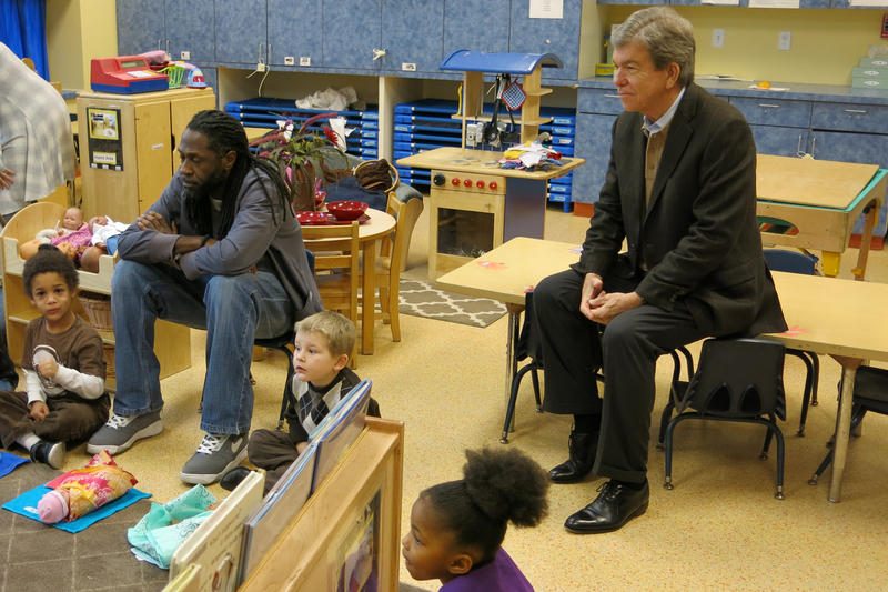 U.S. Sen. Roy Blunt visits a Kansas City Head Start classroom that's participating in the Trauma Smart program.