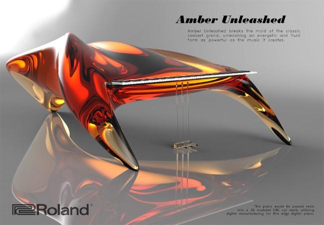 Amber Unleashed Rebekah Winegarners Winning Entry In Rolands Digital Grand Piano Design Competition