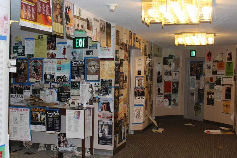 Hundreds of artist's posters covered the walls on three floors of the Westin Hotel.