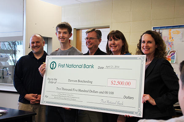 Shawnee Mission West senior Dawson Borcherding won the top prize at the First National Bank Business Plan Competition in 2014, when he was a sophomore.