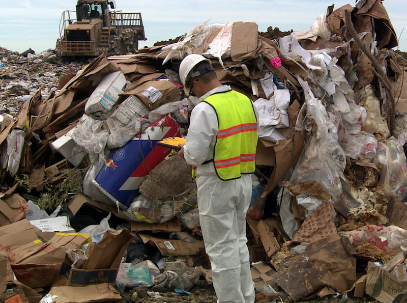 The food that doesn't end up in our stomachs often ends up in landfills, like this one in Lincoln, Neb.