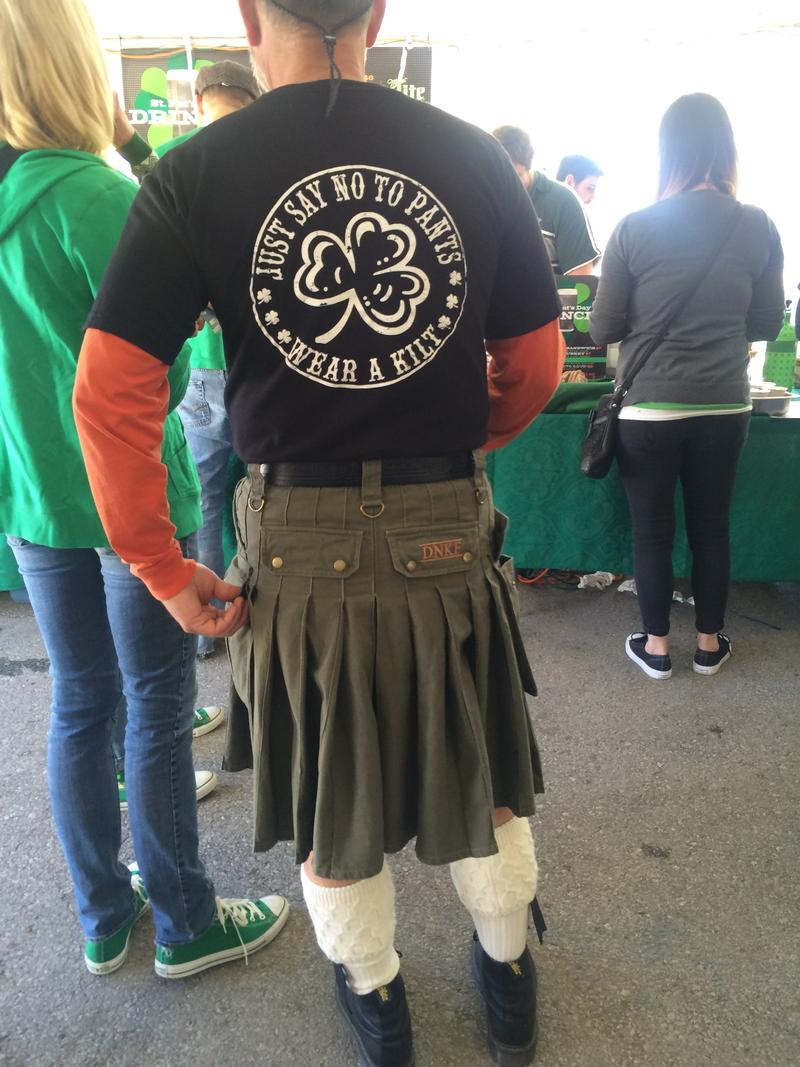 One reveler's shirt said it all as he bellied up to the bar at Browne's Irish Marketplace.