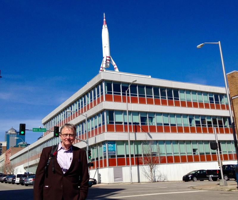 BNIM principal Steve McDowell stands outside his firm's current office in the historic TWA Building at 18th and Baltimore.