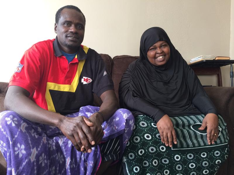 Somali refugees Ali Shamun (left) and Fertun Mahdi arrived in the United States in December after years of trying to escape the chaos of their homeland.