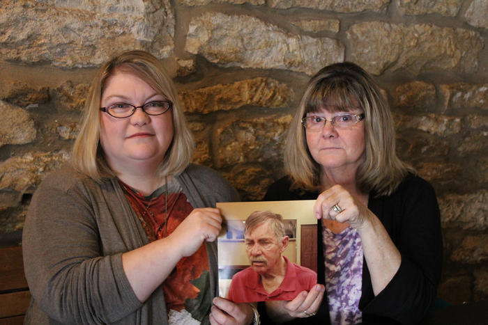 Allen Wagner's family says it took months for his Medicaid application to be approved. His daughter, Amy Flanigan, left, and wife, Charlene Wagner, recalled their frustration as he was moved from hospital to hospital.