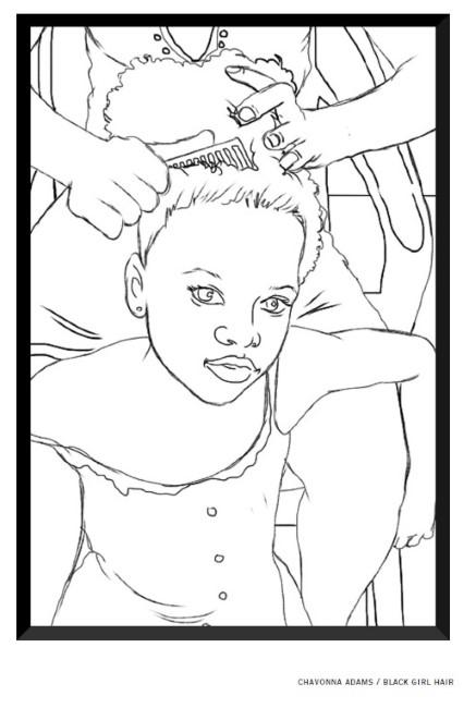 Chavonna Adams Black Girl Hair Is Among The Images In Childrens Edition Of Words And Lives Matter Credit Courtesy One Struggle KC
