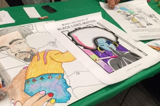 Funded by a Charlotte Street Rocket Grant, Una Lucha KC and One Struggle KC launched a series of coloring books at an Art and Healing event at the South Branch of the Kansas City, Kansas Public Library in February.