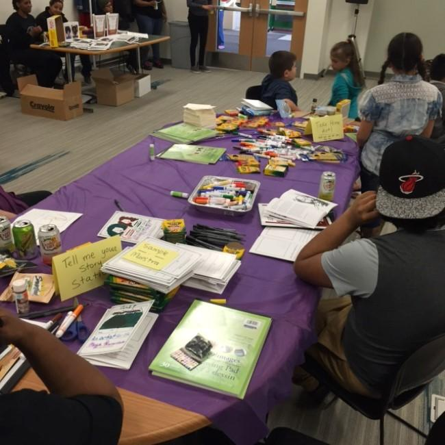 Families Gathered At The South Branch Of Kansas City Public Library For Una Lucha KC And One Struggle KCs First Art Healing Event