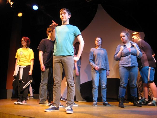 The 2015 cast of the Coterie Theatre's Project Pride. Some of the cast members have returned for this year's third annual show.