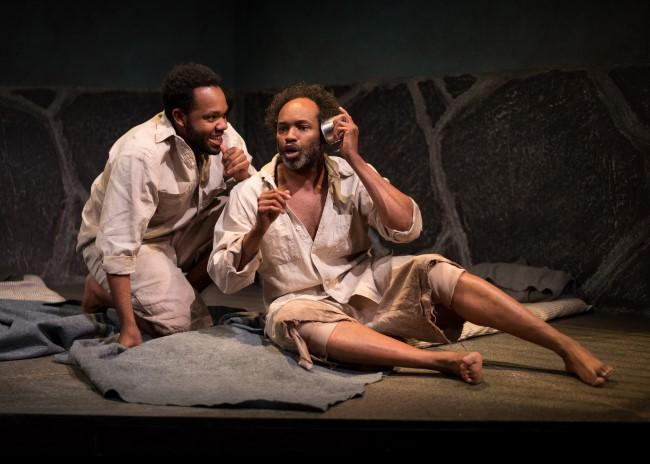 Teddy Trice (left) as Winston and Damron Russel Armstrong as John in 'The Island.'