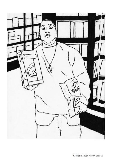 Warren Harveys Illustration In The Adult Edition Of Words And Images Black Lives Matter Depicts Ryan Stokes Fatally Shot By A Kansas City Police