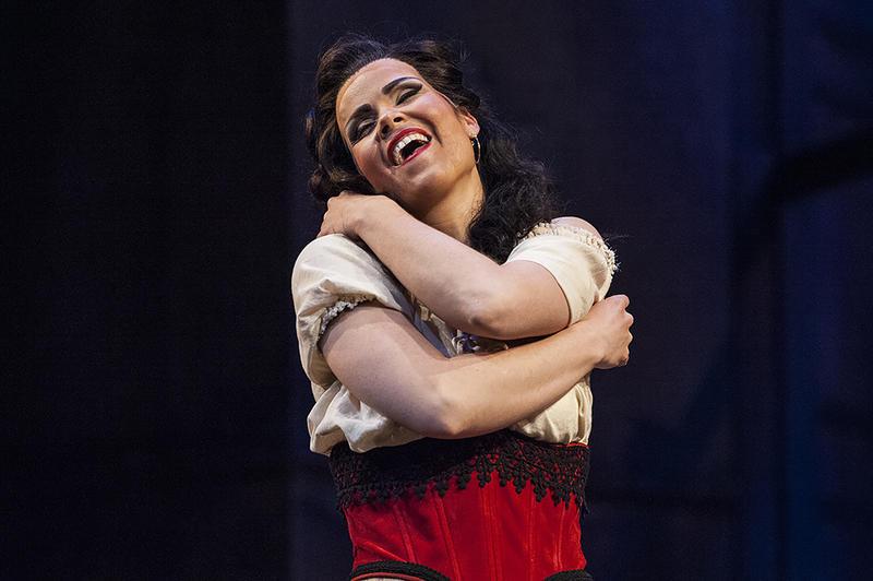The stormy femme fatale Carmen (mezzo-soprano Zanda Svede).