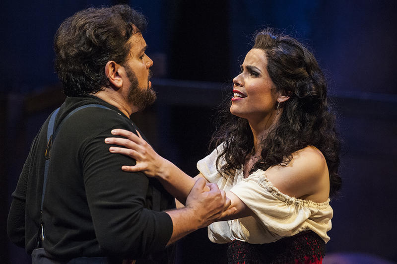 Jose (Davila) agrees to abandon all for Carmen (Svede).
