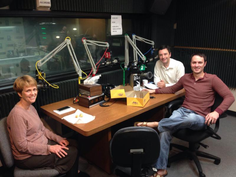 Clockwise around the table: Brian Ellison, Rep. Jon Carpenter, Barb Shelly