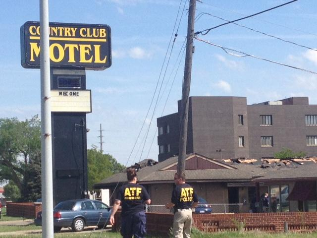 Federal investigators were processing a crime scene at the Country Club Motel, 3732 SW Topeka Blvd. in Topeka, Kansas.