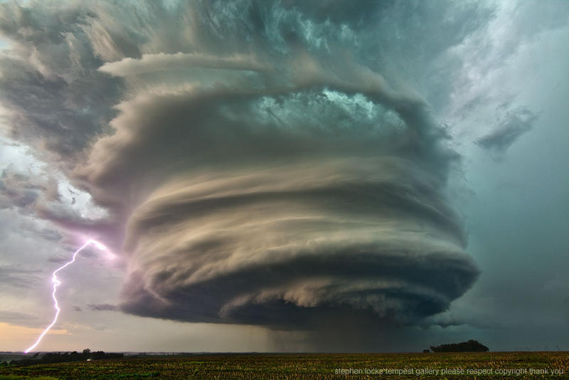 West Point, Nebraska supercell, June 14, 2013.