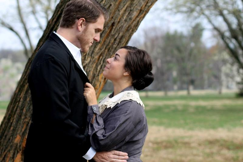 Matt Richardson (as Mr. Rochester) and Alisha Richardson (as Jane Eyre) star in the Barn Players Community Theatre production of 'Jane Eyre.'