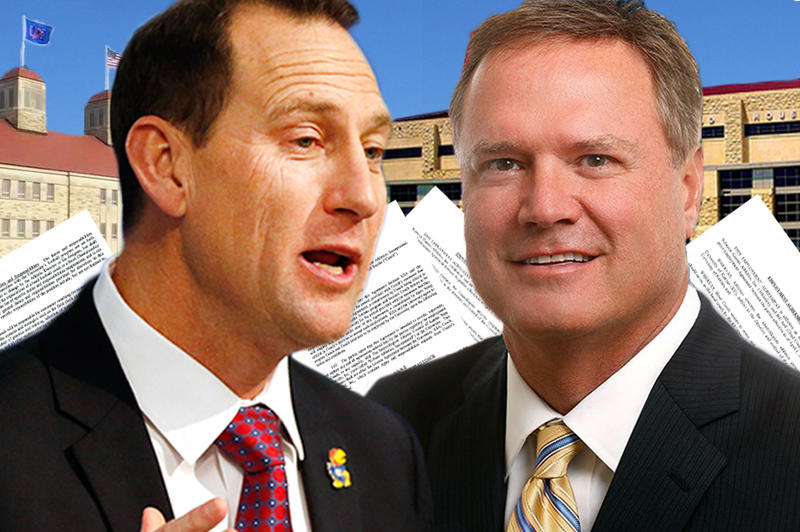 Both top KU coaches, David Beaty (left) and Bill Self, have LLCs that reduce the amount they owe in Kansas income taxes.