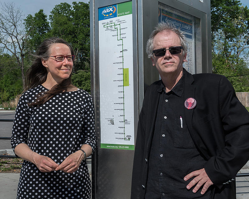 Adriane Herman and Mo Dickens teamed up for an art project called Freeing Throwers. Dickens' voice can be heard on more than 200 KCATA buses.