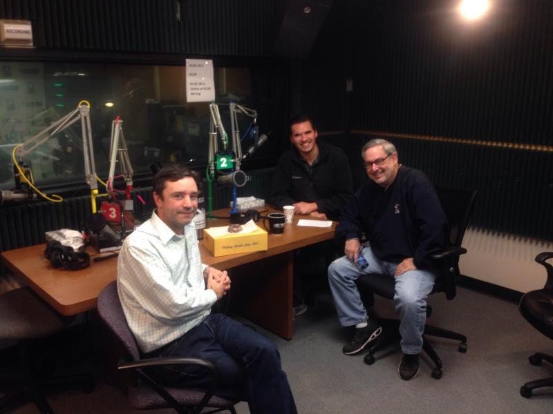Clockwise around the table: Kyle Palmer, Sam Zeff, and Brian Ellison