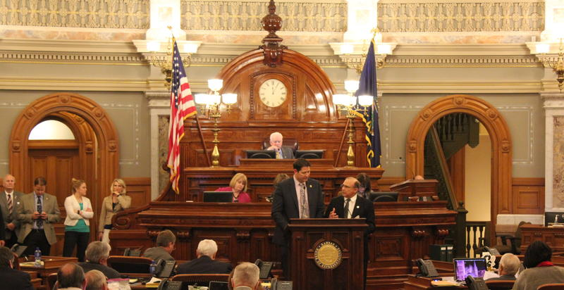 The Kansas House chamber as the budget was being considered.