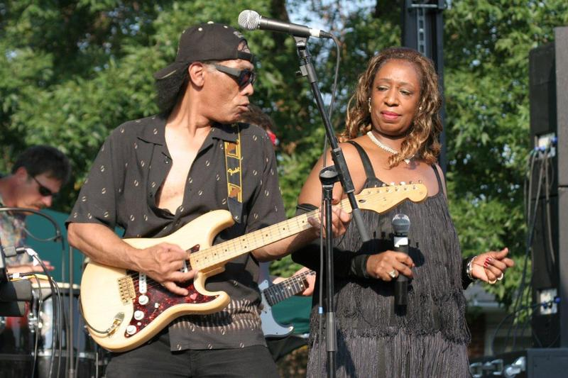 K.C. Kelsey Hill and Linda Shell are the king- and queen-in-waiting of the Kansas City Kansas Street Blues Festival.