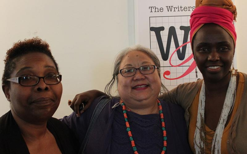 From left: Lynne Aime, Deki Yangzom and Nyakio Kaniu-Lake after telling their immigration stories at the Writers Place.