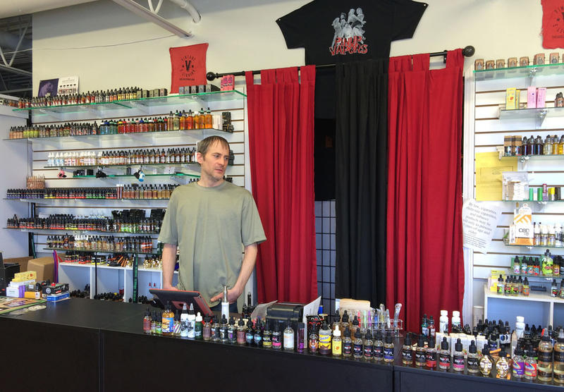 Eric Cope, owner of Top Shelf Vapors in Topeka, says he doesn't oppose some regulation of the ingredients in liquid used for vaping. But he worries only large tobacco companies will be left in the market.