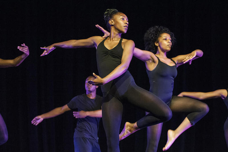 Members of AileyCamp The Group at Festival on the Vine in 2015 performed 'Alegretto' choreographed by Tyrone Aiken.