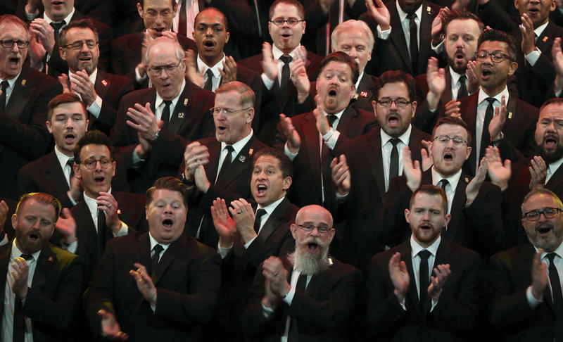 Members of the Heartland Men's Chorus.