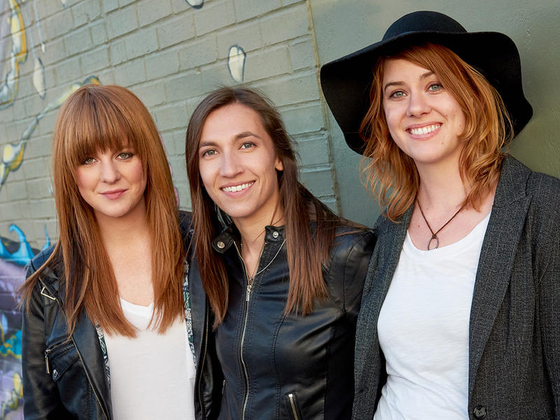 Drummer Stephanie Williams (left), Katy Guillen (center) and bassist Claire Adams are Katy Guillen and the Girls.
