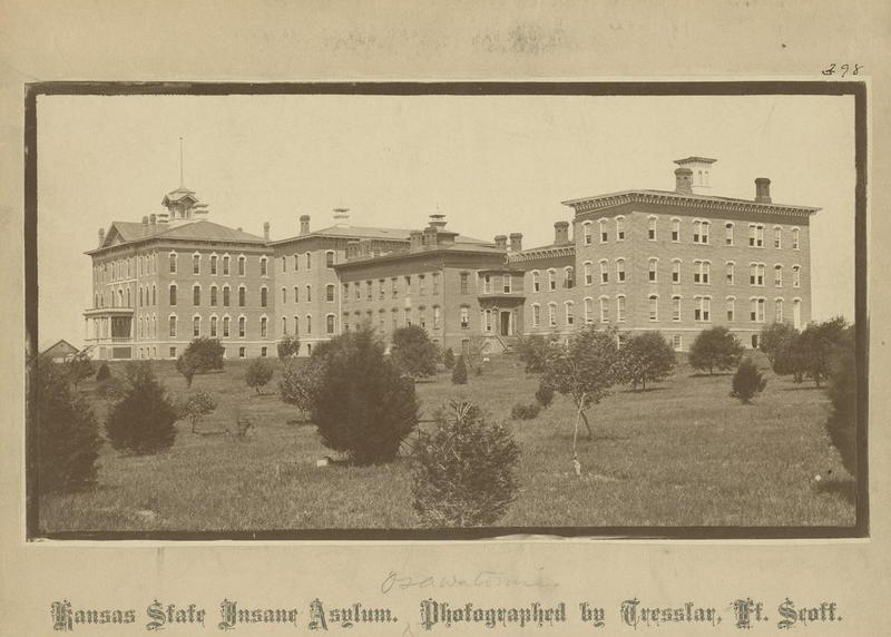 In 1866, Kansas established the facility that would become Osawatomie State Hospital. The state purposely put mental health patients in rural areas out of a belief that a peaceful setting and farm work would act as a treatment.