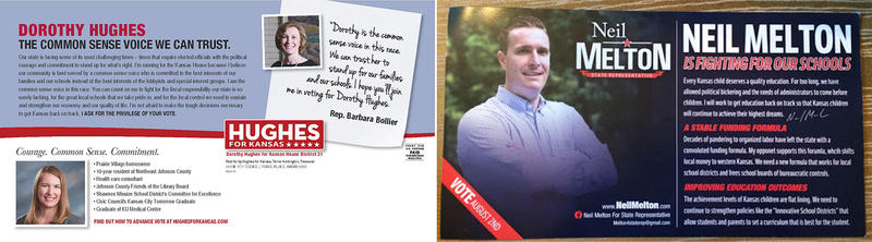 Education has been postcard fodder for both candidates in the Republican primary for House District 21.