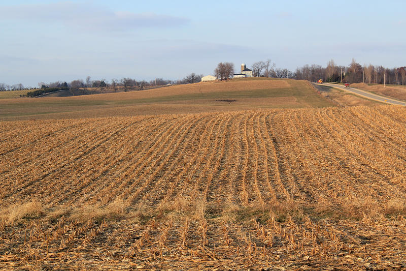 Farmers can expect a paycut, thanks mostly to an abundance of corn and soybeans.