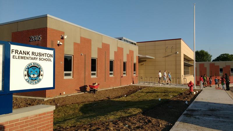 Frank Ruston Elementary School students will have their first day of classes in the new building on Monday.
