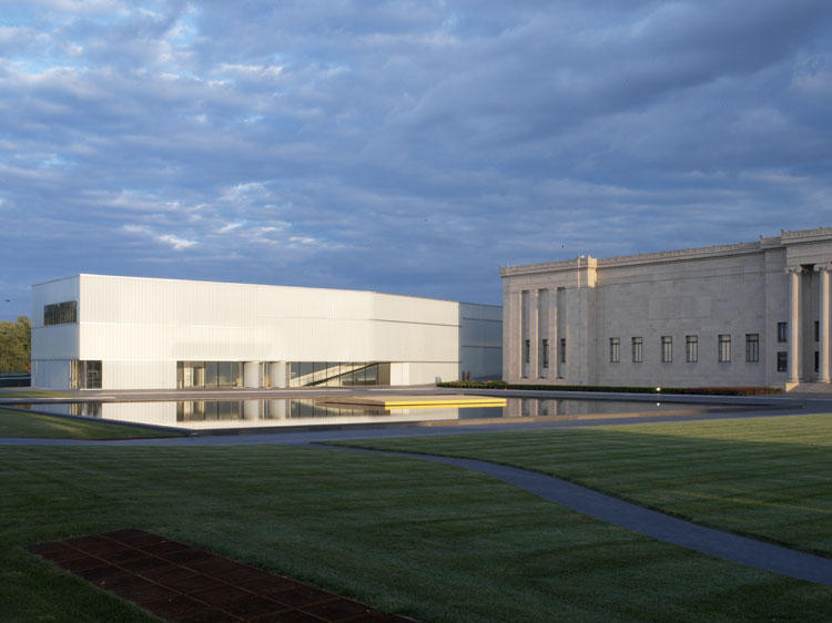 The Nelson-Atkins boosted gallery and storage space for its collection when it opened the Bloch Building, pictured at left, in 2007. Now, it's looking into other expansion options.