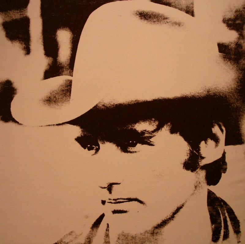Andy Warhol used Grossman's photo of Dennis Hopper for this print. The photo was taken in Peru during the filming of 'The Last Movie.'