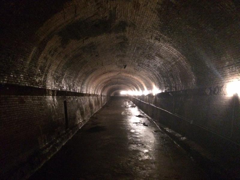 The 8th Street Tunnel as it looks today. The tunnel was a major piece of streetcar and cable car infrastructure, but has been dormant for years.