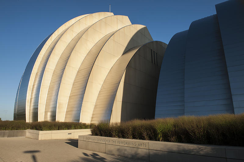 The Kauffman Center for the Performing Arts, designed by architect Moshe Safdie, opened in September 2011.