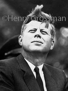 Grossman's photo of President John F. Kennedy was Jackie Kennedy's favorite portrait of her husband.