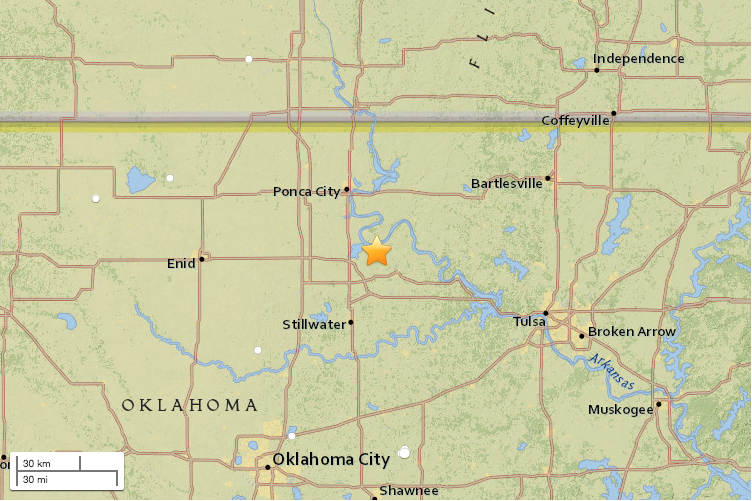 This map from the United States Geological Survey shows the epicenter of the quake.