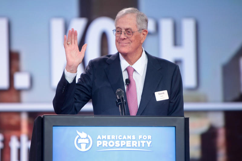 David Koch, executive vice president of Koch Industries, speaking at Americans For Prosperity's 2015 summit in Columbus, Ohio.